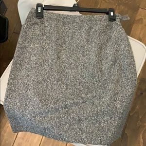 Heather gray pencil skirt